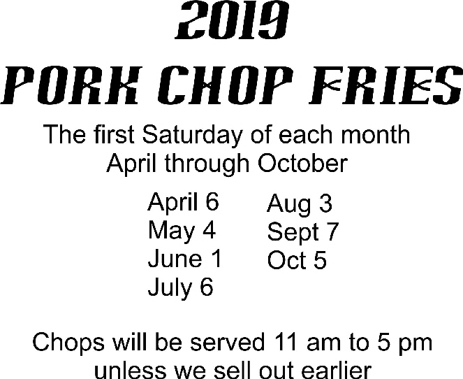 Pork shop schedule